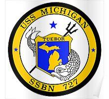SSBN 727 USS Michigan Crest Poster
