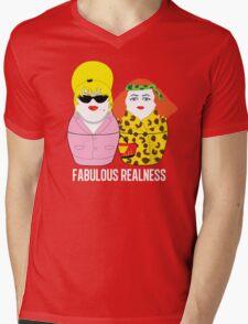 Fabulous Realness Black Mens V-Neck T-Shirt
