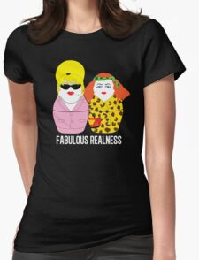 Fabulous Realness Black Womens Fitted T-Shirt