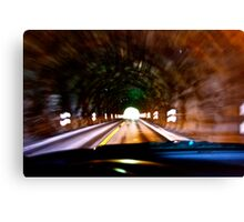 God bless artist and one hand driving a car in the tunell  photographers & freakes like Brown Sugar.  Thank you My Lord ! 4 my life ! Amen . Canvas Print