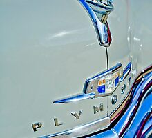 1950 Plymouth Coupe Hood Ornament and Emblem by Jill Reger