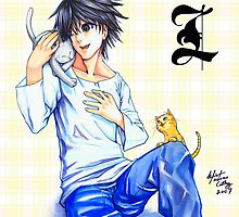 L with kitties by meomeo