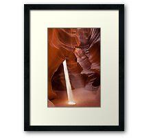 Classic beam of light - Antelope Canyon Framed Print