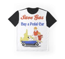 Retro save gas, buy a pedal car Graphic T-Shirt