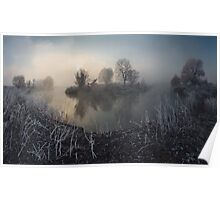 First frost on the river Poster