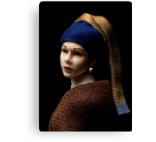 Princess with a Pearl Earring Canvas Print