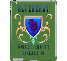 Weed blueberry  sweet fruity gifts iPad Case/Skin