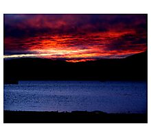 Hudson River Sunset Photographic Print