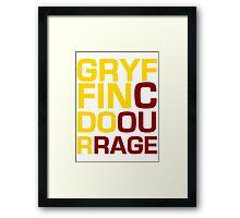 Gryffindor Courage Framed Print