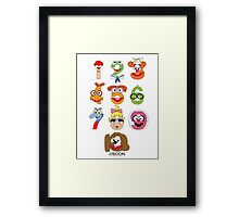 Muppet Babies Numbers Framed Print