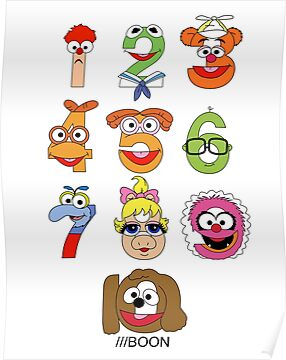 Muppet Babies Numbers by Mike Boon