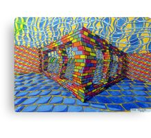 351 - THE RAINBOW WALL - DAVE EDWARDS - COLOURED PENCILS & INK - 2012 Canvas Print