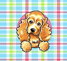 Cocker Spaniel Pretty Plaid by offleashart