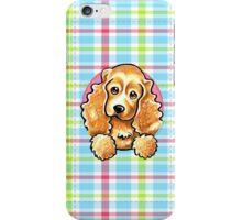 Cocker Spaniel Pretty Plaid iPhone Case/Skin