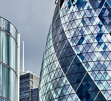 The Gherkin Building London by DavidHornchurch