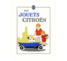 1920s remake Citroen French toy cars ad Art Print