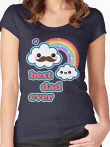 Cute Best Dad Ever Women's Fitted Scoop T-Shirt