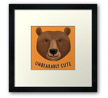 Unbearably Cute Framed Print