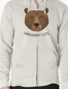 Unbearably Cute Zipped Hoodie