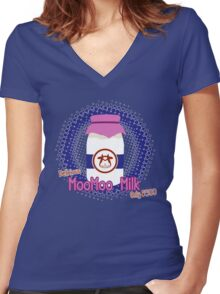 Delicious MooMoo Milk! Women's Fitted V-Neck T-Shirt