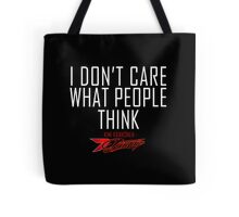 I don't care what people think - Kimi Raikkonen life motto  Tote Bag