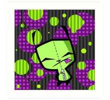 Happy Gir from Invader Zim fanart Art Print