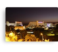 Eilat, Israel Resorts at Night Canvas Print