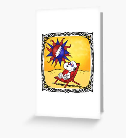 sky was yellow and the sun was blue Greeting Card