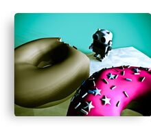 Doughnuts and Toy Robot 02 Canvas Print