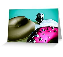 Doughnuts and Toy Robot 02 Greeting Card