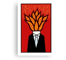 Hot head Canvas Print