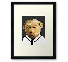 Stern Shirted Dog Framed Print