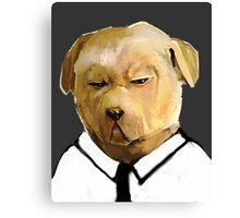 Stern Shirted Dog Canvas Print