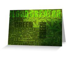 Name my weed? -Cloud Creator. Greeting Card