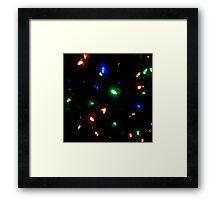 Christmas Morning Lights Framed Print