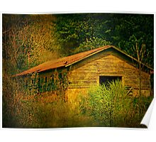 Deep in the woods there sits an abandoned farm Poster