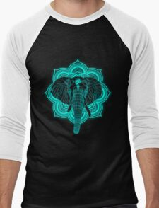 Hindu god elephant Ganesha Men's Baseball ¾ T-Shirt
