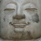 Buddha Face in Gray by KelseyGallery