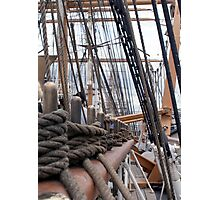 Rigging At Deck Level Photographic Print