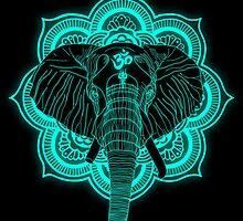 Hindu god elephant Ganesha by ewdondoxja