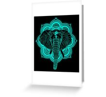 Hindu god elephant Ganesha Greeting Card