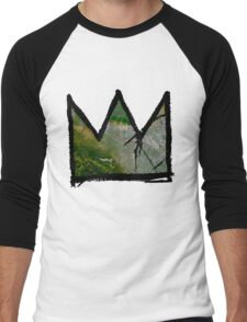 "Baquiat ""King of Silicon Valley California"" Men's Baseball ¾ T-Shirt"