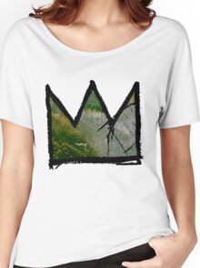 """Baquiat """"King of Silicon Valley California"""" Women's Relaxed Fit T-Shirt"""