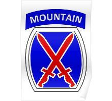 10th Mountain Division Logo Poster