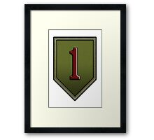 The Big Red One Insignia Framed Print
