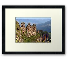 A Classic View - The Three Sisters Framed Print