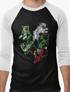 Pug Lantern Corp Men's Baseball ¾ T-Shirt