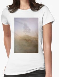 Loneliness At Foggy Dawn Womens Fitted T-Shirt