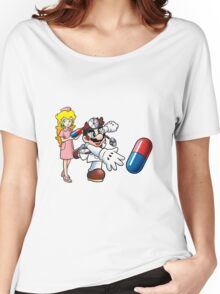 Dr. Mario and Nurse Toadstool Women's Relaxed Fit T-Shirt