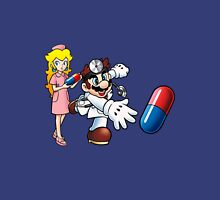Dr. Mario and Nurse Toadstool Unisex T-Shirt